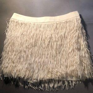 mini skirt with fringes